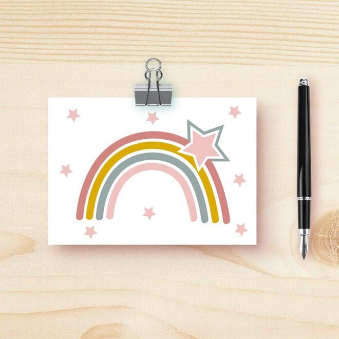 kaart regenboog roze hiphuisje