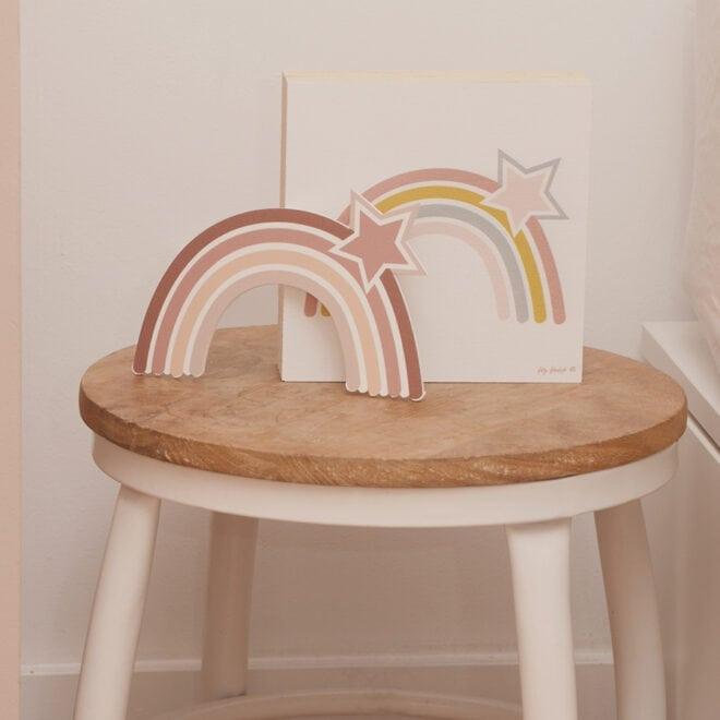 decoblok regenboog roze hiphuisje