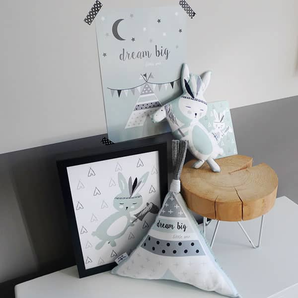 Kinderkameraccessoires zachtgroen konijntje tipi Hip Huisje