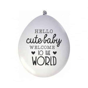 ballonnen baby geboren hip huisje