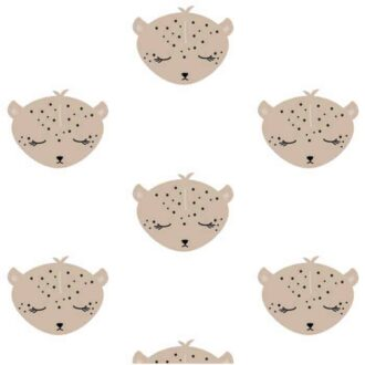 close up behang luipaard kinderkamer kinderbehang 3
