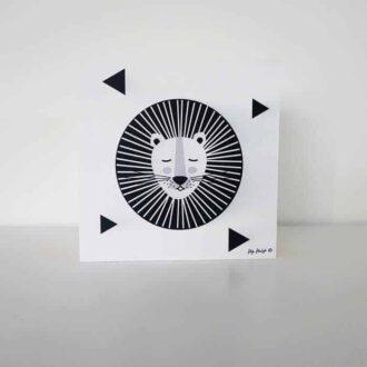 decoblok leeuw zwartwit hiphuisje 2