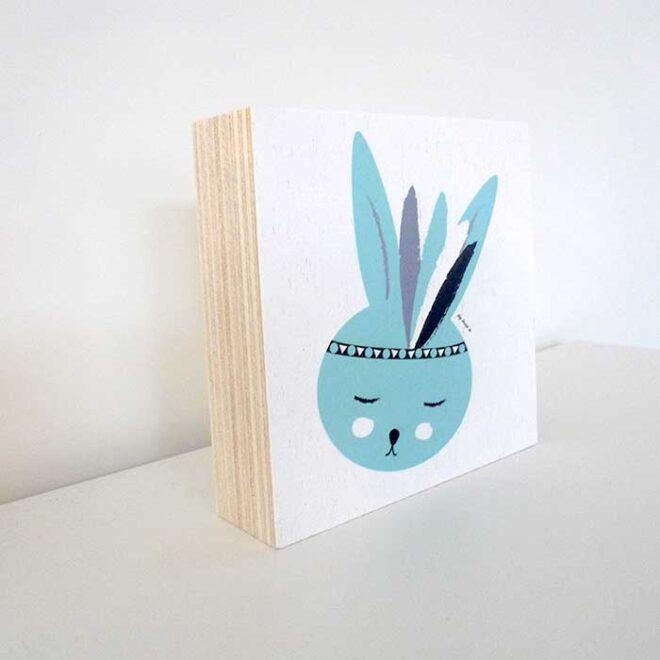 decoratie kinderkamer decoblok konijntje hiphuisje 2