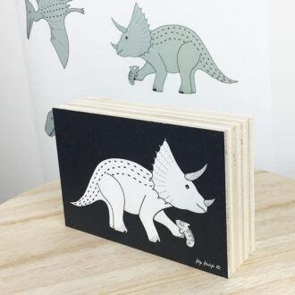decoratie kinderkamer dinosaurus decoblok zwart hiphuisje 3