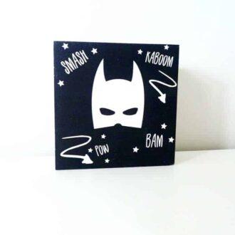 decoblok hout zwartwit superhero hiphuisje 1