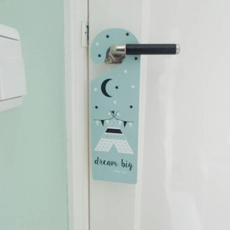 deurhanger groen mint hip huisje