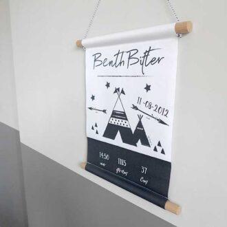geboortebanner poster geboorte kraamcadeau HipHuisje