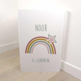 geboortebord regenboog naambord hiphuisje 4
