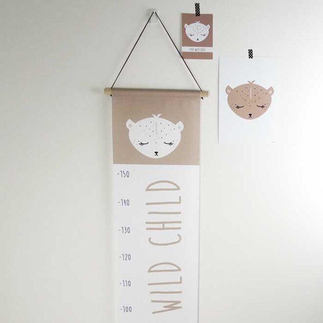 groeimeter poster kaart sfeer kinderkamer muur decoratie hiphuisje