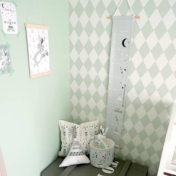 groeimeter zachtgroen accessoires kinderkamer hip huisje