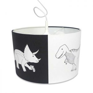 hanglamp dinosaurus zwart wit jongenskamer kinderlamp hiphuisje