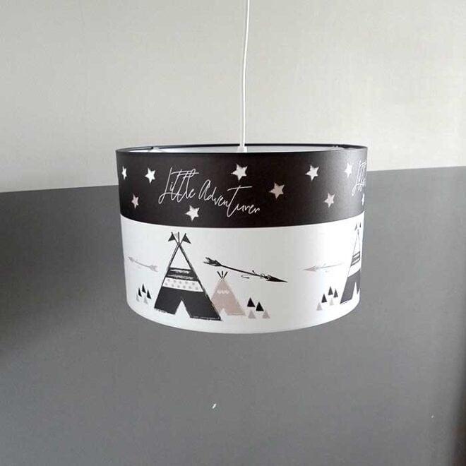 hanglamp zwartwit tipi kinderlamp HipHuisje