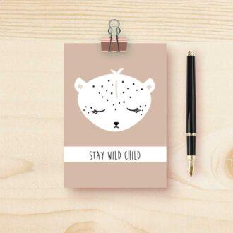 kaart luipaard kinderkamer kind hiphuisje 2