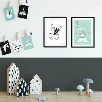 kaarten posters kinderkamer hiphuisje 11