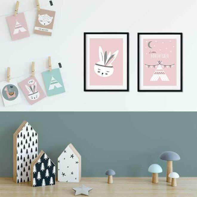 kaarten posters kinderkamer meisjeskamer hiphuisje 8