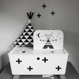 kleine muurstickers kinderkamer cross hip huisje