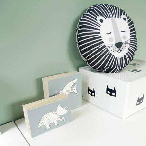 kussentje rond leeuw kinderkamer zwartwit hiphuisje