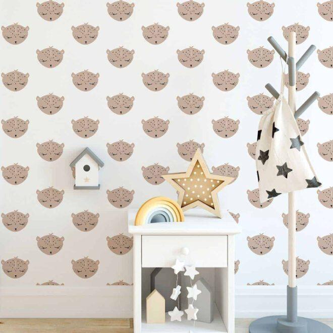 luipaard behang kinderkamer babykamer luipaarden hiphuisje 3