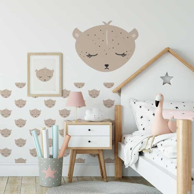 luipaard behang muursticker kinderkamer decoratie sticker 2