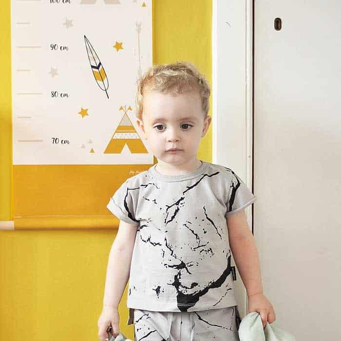 meetlat groeimeter okergeel kinderkamer hiphuisje