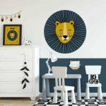 muursticker lion gee lblauw 50 cm 5
