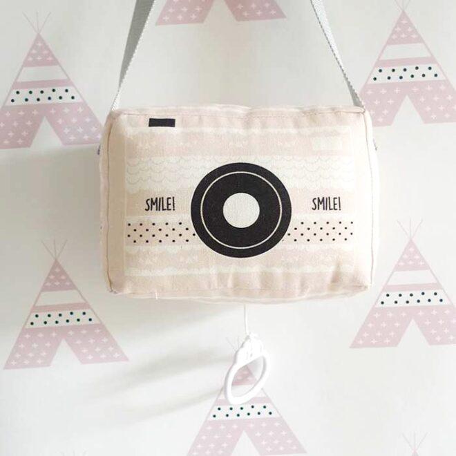 muziekdoosje fototoestel fotocamera babykamer meisjeskamer hiphuisjekopie 1