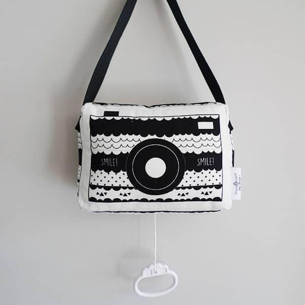 muziekdoosje fototoestel zwart wit hip huisje
