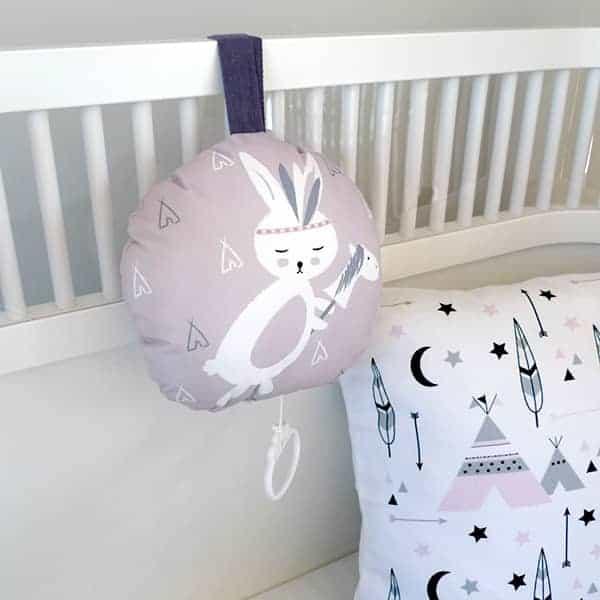 muziekdoosje roze konijntje tipi hip huisje