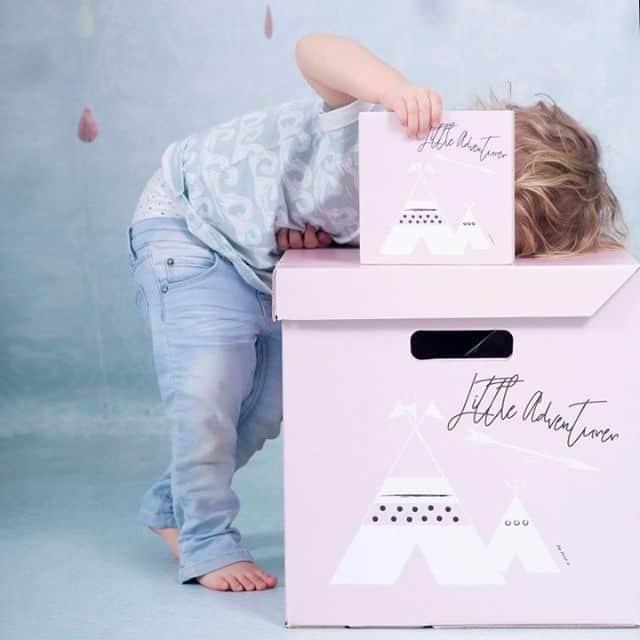 opbergdoos roze tipi kinderkamer accessoires hiphuisje 1