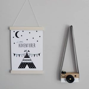 poster little adventurer hip huisje