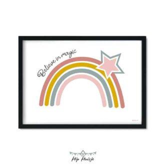 poster regenboog ster magic kinderkamer babykamer accessoires 3