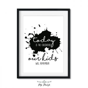 poster zwartwit monochrome woonkamer kinderkamer babykamer accessoires