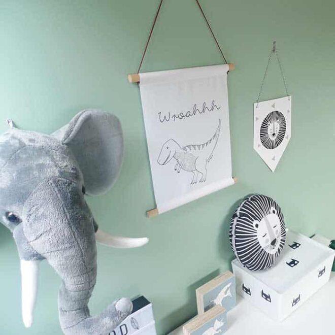 posters dino vaantje leeuw kussen hiphuisje 1