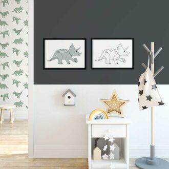 posters dinosaurus kinderkamer triceratops hiphuisje 4
