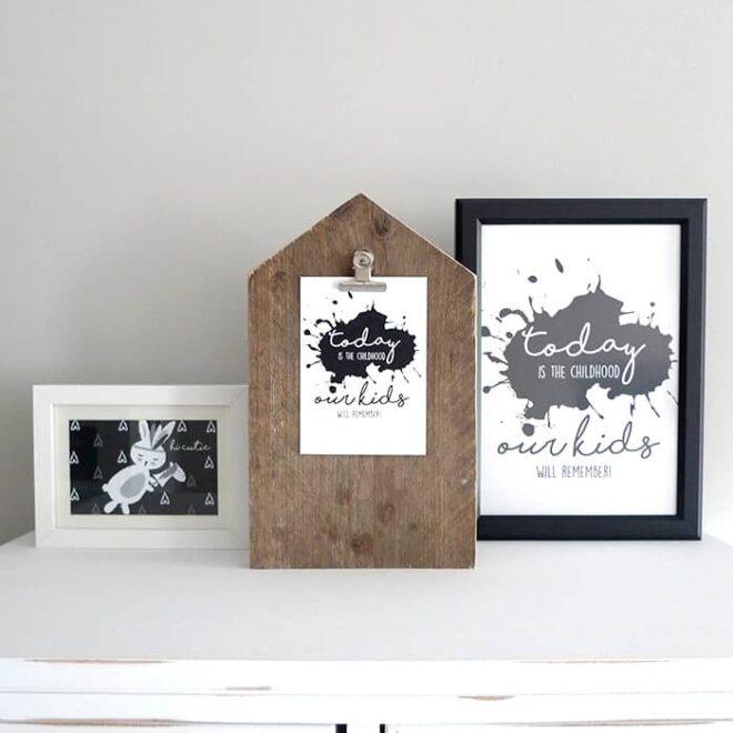 posters en kaarten monochrome hip huisje