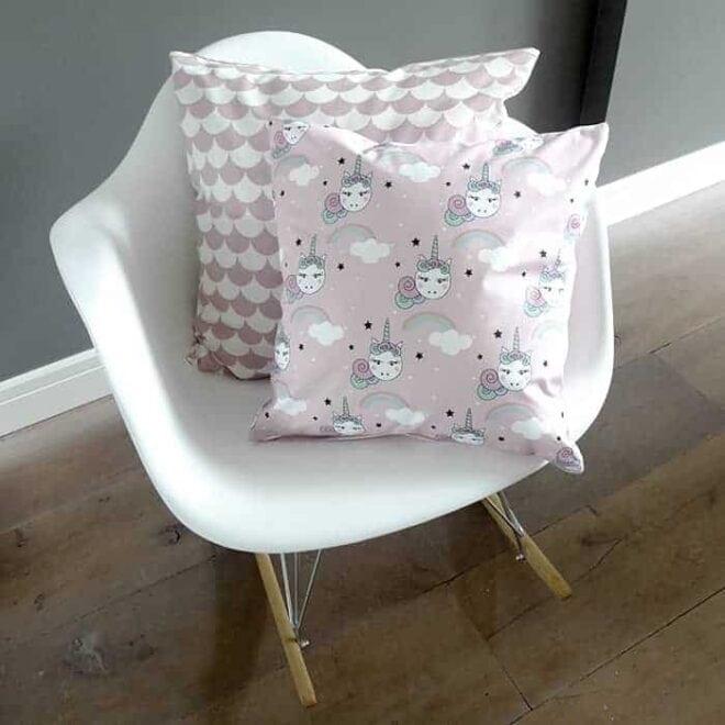 roze kussentjes unicorns golfjes meisje hip huisje