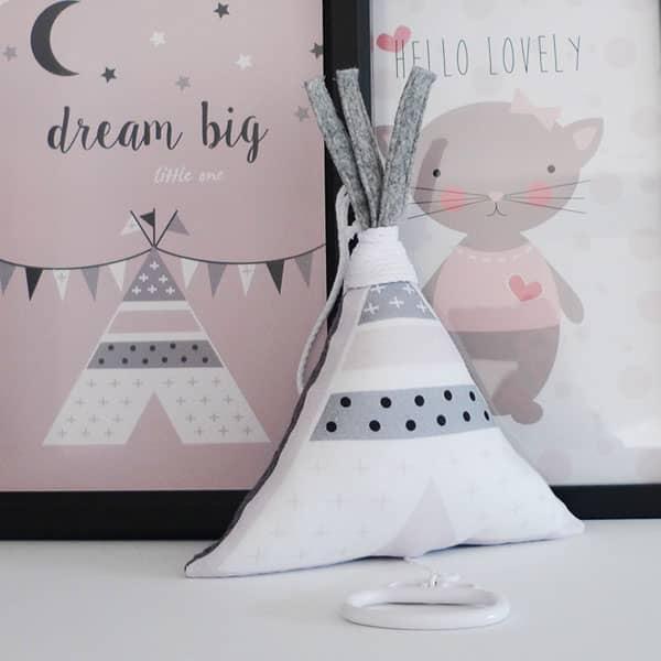 roze muziekdoosje meisjeskamer babykamer Hip Huisje 1