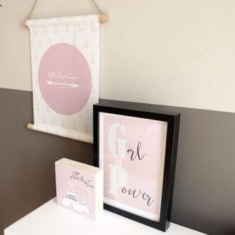 textielposter poster decoblok tipi roze littleadventurer meisjeskamer 3
