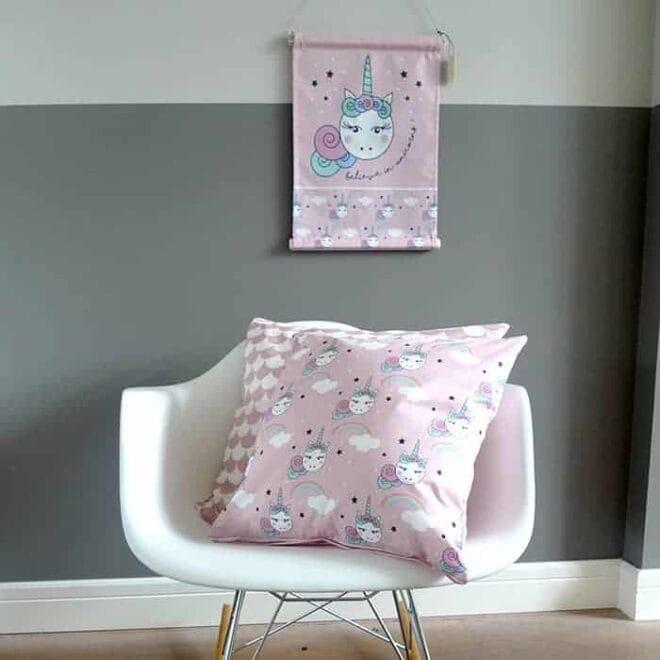 textielposter roze unicorns hip huisje