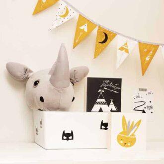 vlaggenlijn okergeel kinderkamer decoratie konijntje hiphuisje 2
