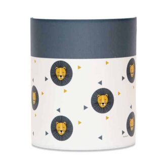 wandlamp leeuw oker blauw hiphuisje 3
