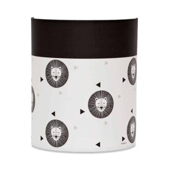 wandlamp leeuw zwart wit kinderlamp hiphuisje 2