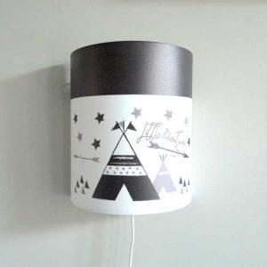 wandlamp tipi zwartwit kinderkamer