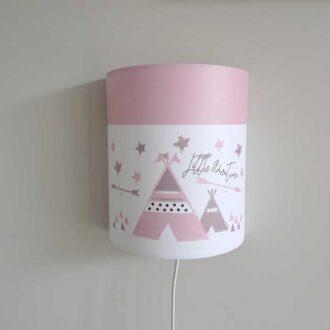 wandlampje roze tipi kinderkamer HipHuisje