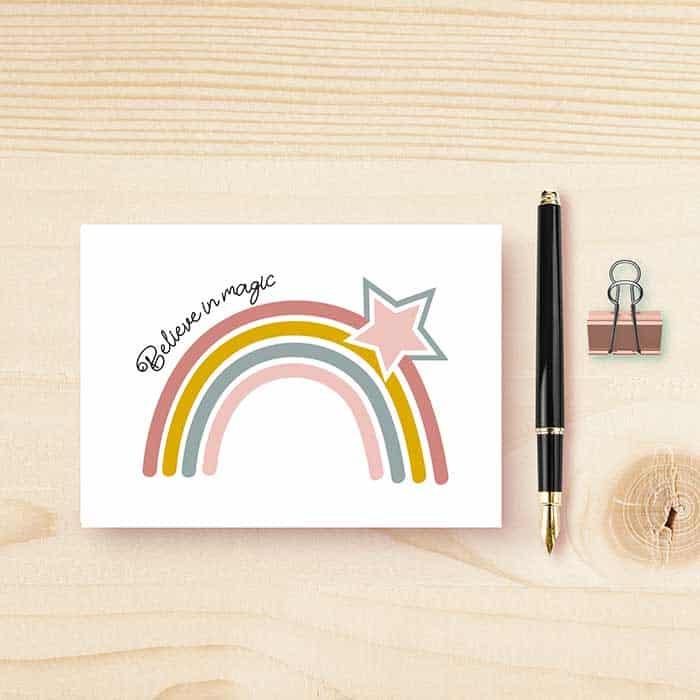 wenskaart kaart regenboog rainbow kinderkamer