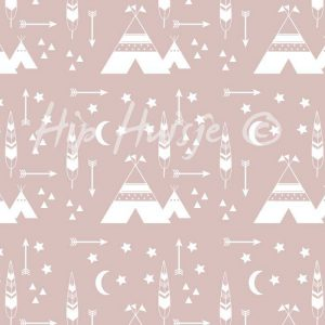 zitzak roze tipi print meisjeskamer hiphuisjekopie