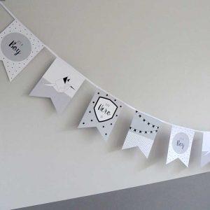 Vlaggenlijn geboorte