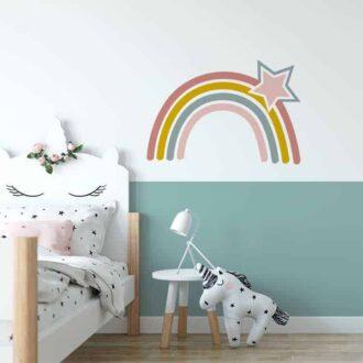 xl muurstickers regenboog hiphuisje