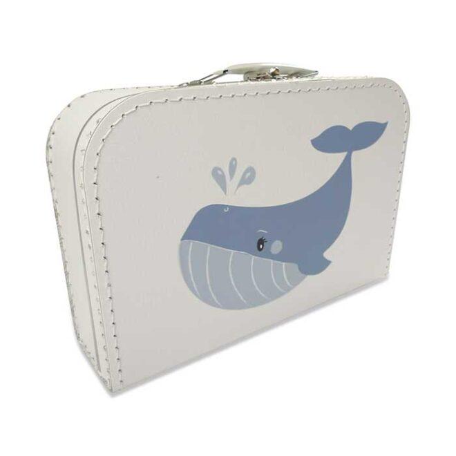 1 kinderkoffertje walvis blauw babykamer hiphuisje
