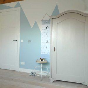 groeimeter tipi blauw meetlat kinderkamer decoratie hiphuisje